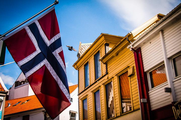 in der Altstadt von Stavanger, Sudnorwegen